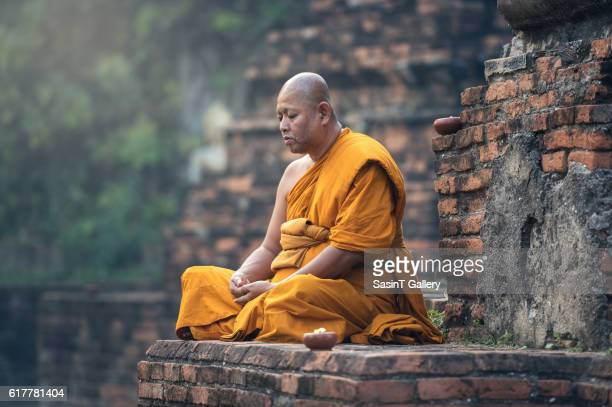 Buddhist monk meditation