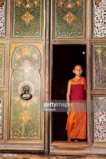 Buddhist monk near Kandy, Sri Lanka