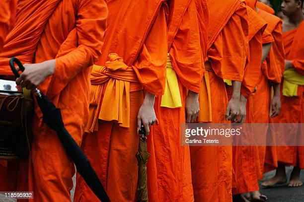 Buddhist monk procession, Luang Prabang, Laos