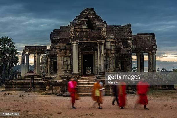 Buddhist Monks Angkor Wat Cambodia