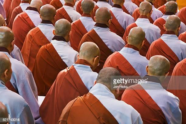 Buddhist monks in Jogyesa shrine