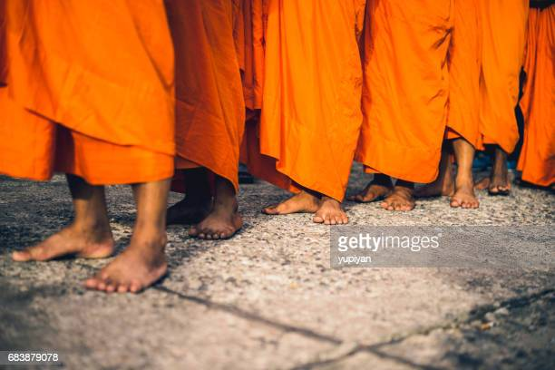 buddhist monks in thailand - lanna stock pictures, royalty-free photos & images