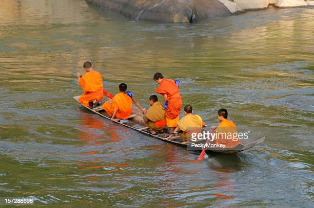Buddhist Monks Make Spiritual Journey on River of Life
