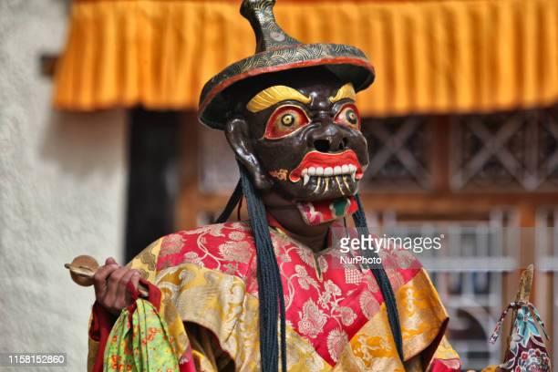 Buddhist monks perform ancient sacred dances during the Lamayuru Masked Dance Festival in Lamayuru, Ladakh, Jammu and Kashmir, India. The dance...