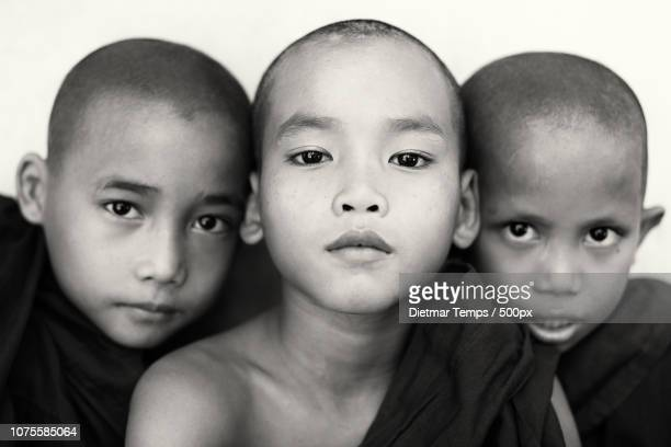 Buddhist novices, Myanmar (Burma)