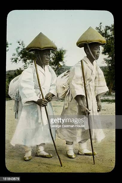 Buddhist Nuns near Seoul Korea between 1909 and 1910