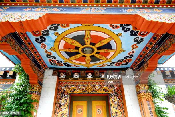 Buddhist Painting on Ceiling