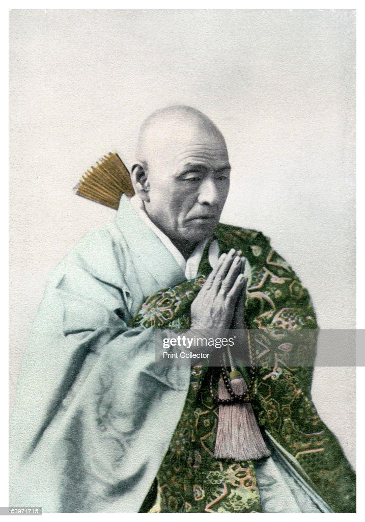 A Buddhist priest, 1904. : News Photo