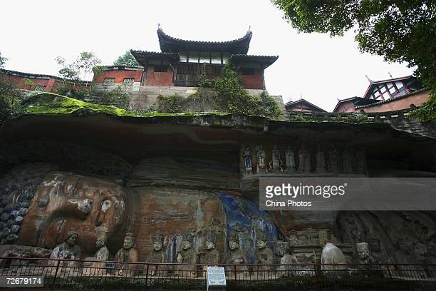 Buddhist sculptures adorn the Dazu Stone Carving Site on November 30 2006 in Dazu County of Chongqing Municipality China The Dazu Stone carving...