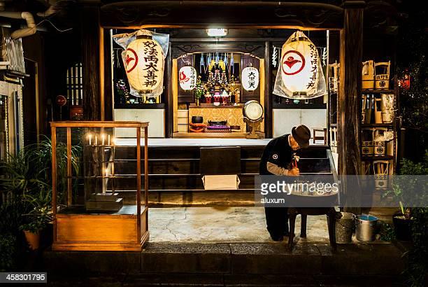 Buddhist shrine in Tokyo Japan