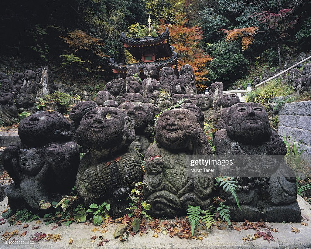 Buddhist statues at Otagi Nenbutsuji Temple : Foto stock