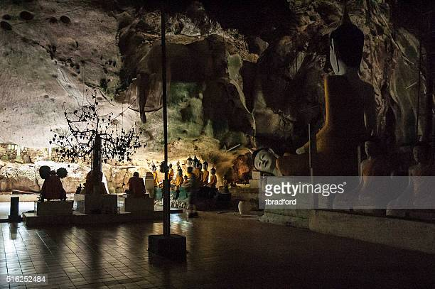 Buddhist Statues In Wat Tham Khuha Sawan, Phatthalung, Thailand