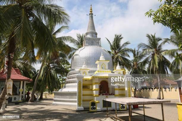 Buddhist stupa at the Nagadipa Vihara on Nainativu Island in the Jaffna region of Sri Lanka