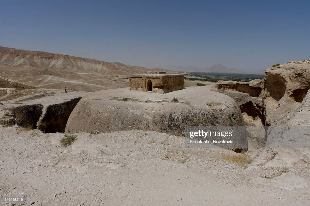 Buddhist stupa in North Afghanistan : Stock Photo