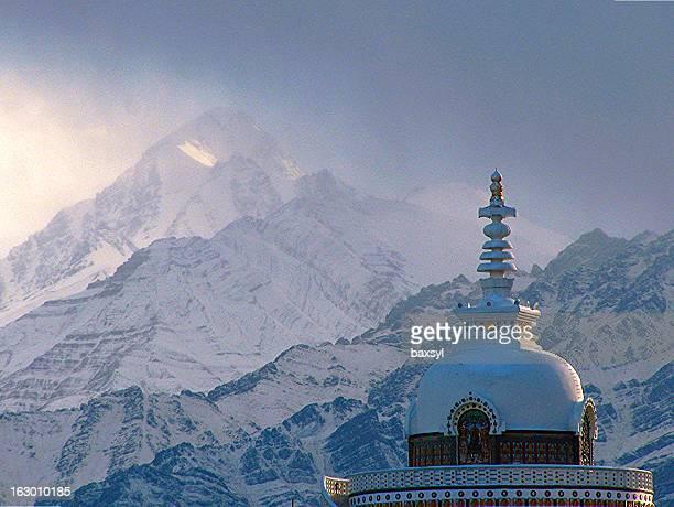 Buddhist stupa in the himalaya