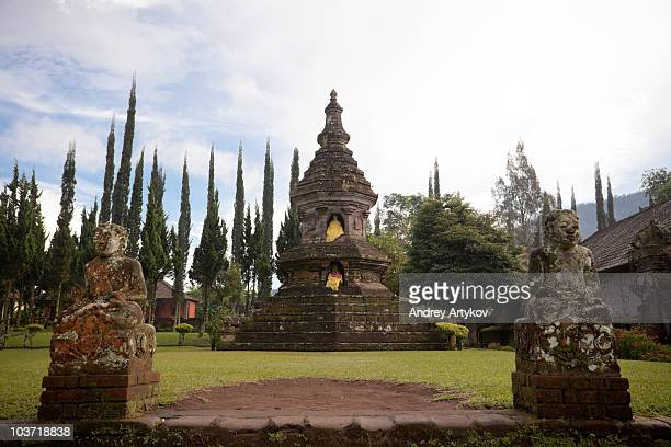 Buddhist stupa in Ulun Danu Beratan temple, Bali