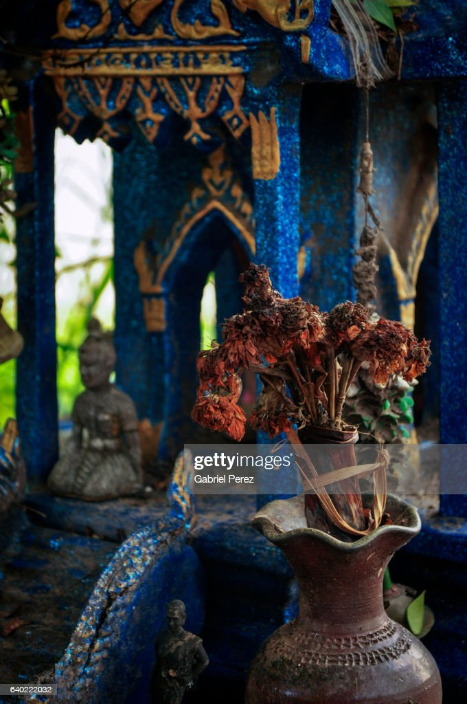 Buddhist Symbols And Iconography In Northeast Thailand Stock Photo