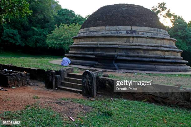buddhist temple in mihintale, near anuradhapura in sri lanka. - mihintale stock pictures, royalty-free photos & images