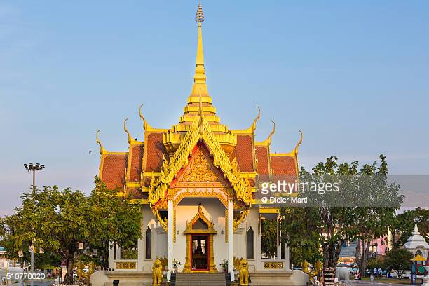 buddhist temple in ubon ratchatani, thailand - didier marti stock photos and pictures