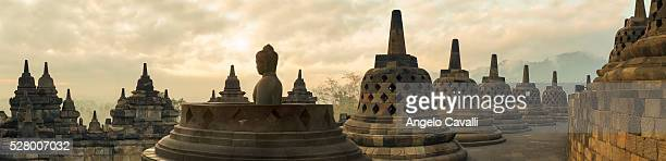 buddhist temple of borobudur, java, indonesia - java stock pictures, royalty-free photos & images