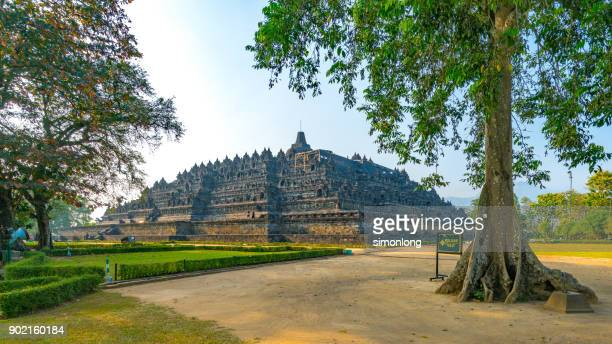 buddhist temple of borobudur - java stock pictures, royalty-free photos & images