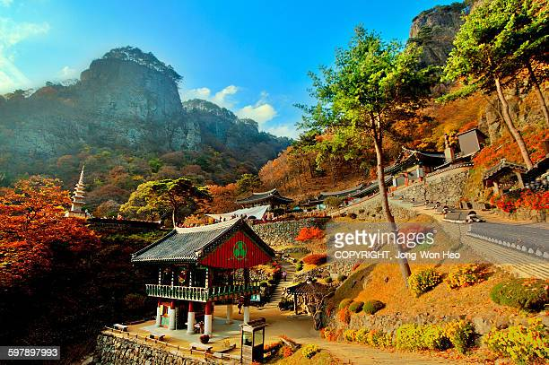 Buddhist temple on the slope