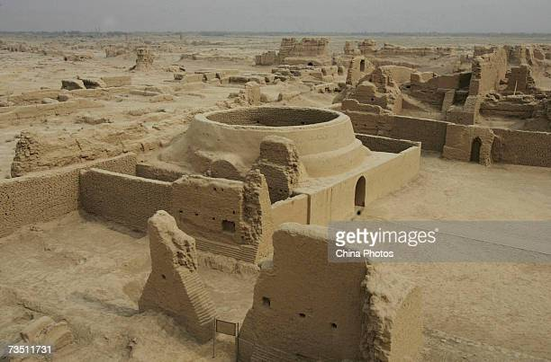 A Buddhist temple site is seen at the ancient city of Gaochang on March 6 2007 in Turfan of Xinjiang Uygur Autonomous Region China Gaochang first...