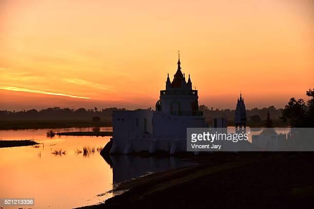 buddhist temple sunset Myanmar