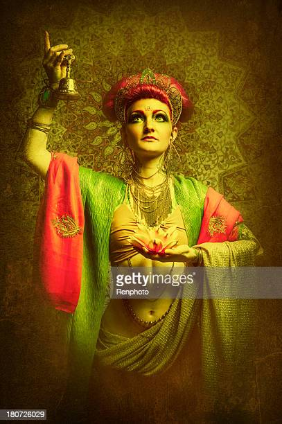 buddhist woman - mystic goddess stock photos and pictures