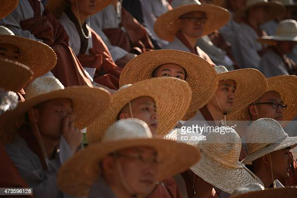 Buddhist worshippers prepare for a lantern parade celebrating the upcoming Buddha's birthday in Seoul on May 16 2015 South Korea will mark Buddha's...