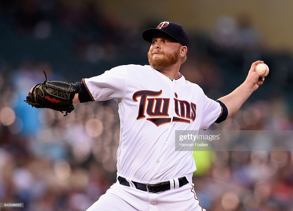 Buddy Boshers #62 of the Minnesota Twins delivers a pitch against the Philadelphia Phillies during the fourth inning of the game on June 21, 2016 at Target Field in Minneapolis, Minnesota. The Twins defeated the Phillies 14-10.