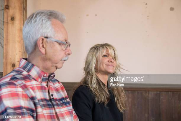 Buddy Cannon and Paula Nelson discuss Willie's Nelson's new album 'Ride Me Back Home' during a taping for SiriusXM's Willie's Roadhouse at on April...