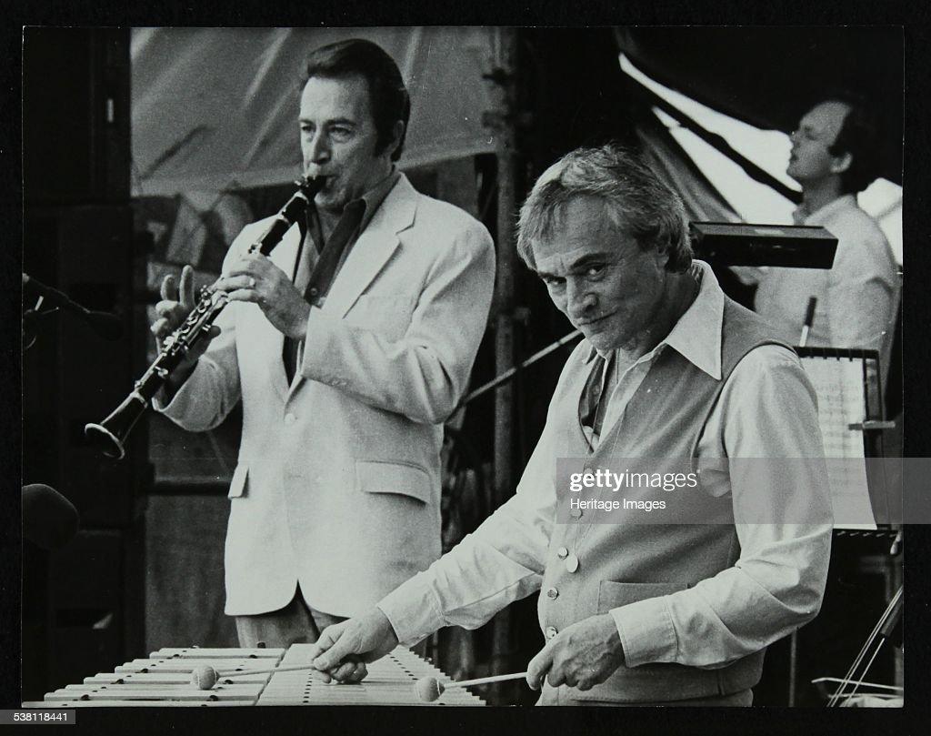 Buddy DeFranco and Terry Gibbs at the Capital Radio Jazz Festival, Knebworth, Hertfordshire, 1981. . : News Photo