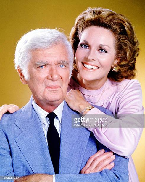 Buddy Ebsen US actor and Lee Meriwether US actress in a publicity portrait for the US television series 'Barnaby Jones' USA circa 1977 The detective...