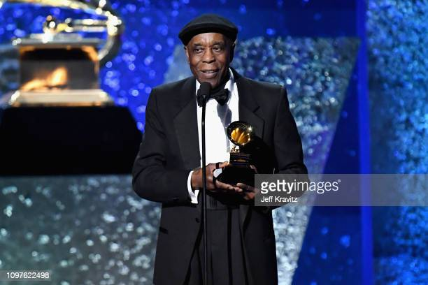 Buddy Guy accepts award onstage at the premiere ceremony during the 61st Annual GRAMMY Awards at Microsoft Theater on February 10 2019 in Los Angeles...