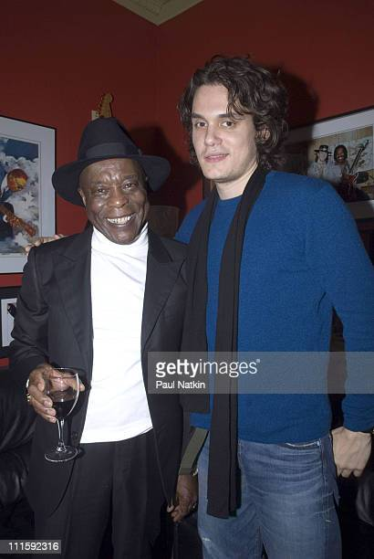 Buddy Guy and John Mayer during Buddy Guy and John Mayer at Buddy Guy's Club Legend's January 14th 2007 at Legends in Chicago Illinois United States