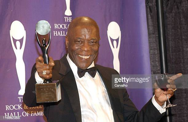 Buddy Guy inductee during 20th Annual Rock and Roll Hall of Fame Induction Ceremony Press Room at Waldorf Astoria Hotel in New York City New York...