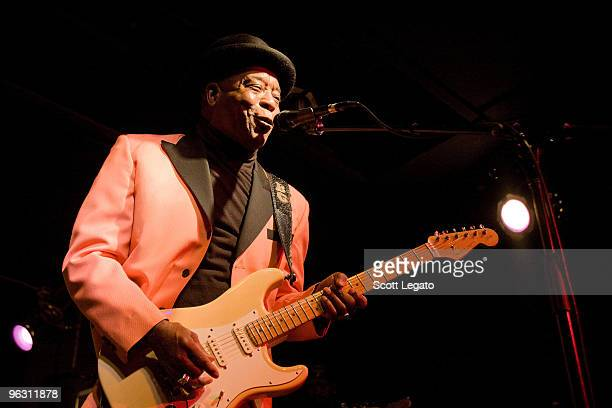 Buddy Guy performs at Buddy Guy's Legends for the last time on January 30 2010 in Chicago Illinois