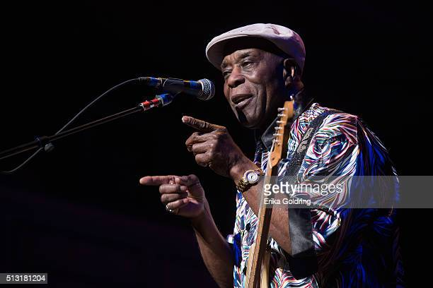 Buddy Guy performs at Schermerhorn Symphony Center on February 29 2016 in Nashville Tennessee
