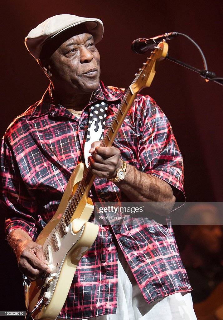 Buddy Guy performs at the Fox Theatre on February 27, 2013 in Detroit, Michigan.