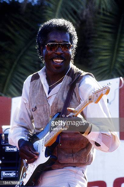 Buddy Guy performs at the Great Meadow at Fort Mason in San Francisco California on September 14 1986