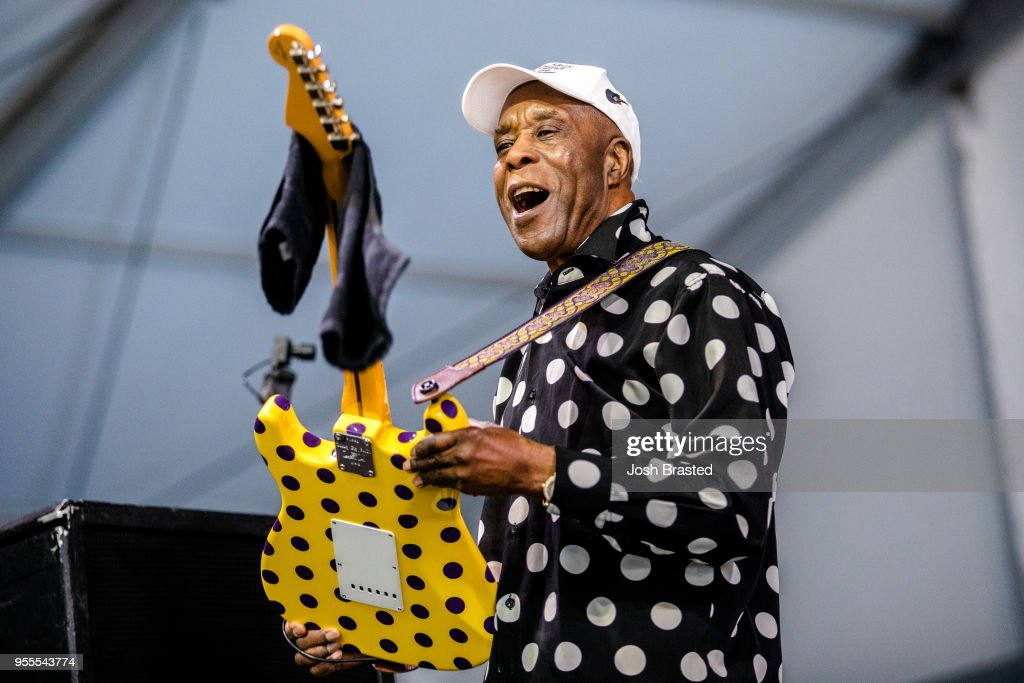Buddy Guy performs at the New Orleans Jazz & Heritage Festival at Fair Grounds Race Course on May 6, 2018 in New Orleans, Louisiana.