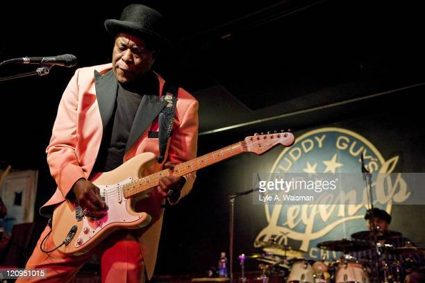 Buddy Guy performs for the last time at the original Buddy Guy's Legends nightclub on January 30 2010 in Chicago Illinois