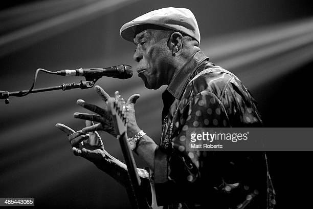 Buddy Guy performs live for fans at the 2014 Byron Bay Bluesfest on April 18 2014 in Byron Bay Australia