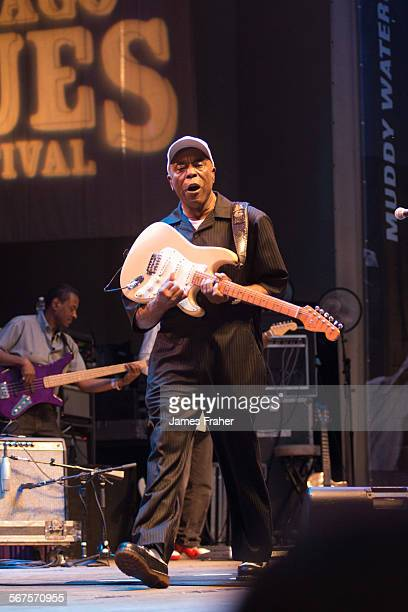 Buddy Guy performs on stage at The Chicago Blues Festival on June 13 2015 in Chicago Illinois United States