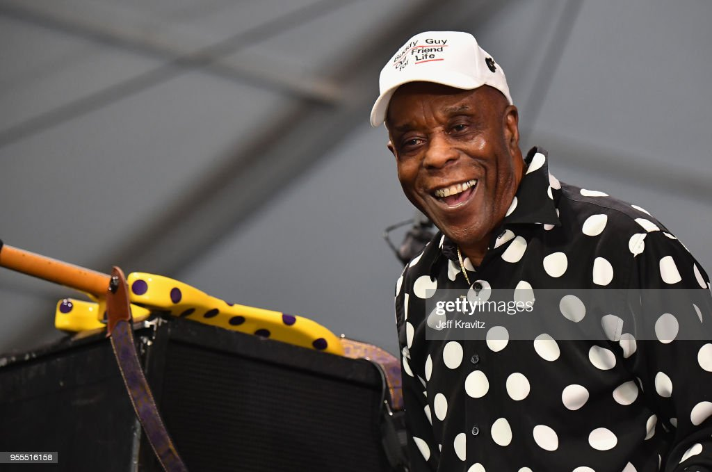 Buddy Guy performs onstage during Day 7 of the 2018 New Orleans Jazz & Heritage Festival at Fair Grounds Race Course on May 6, 2018 in New Orleans, Louisiana.