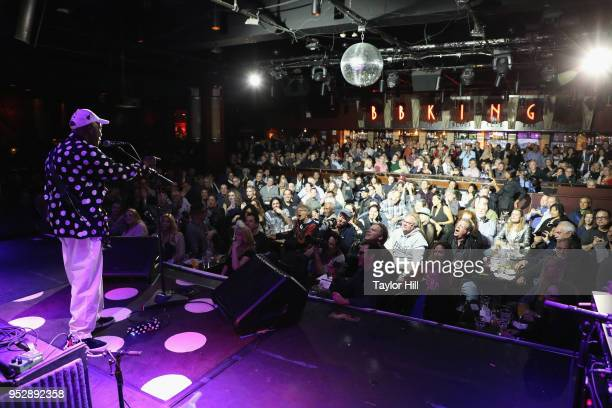 Buddy Guy performs performs onstage during BB King Blues Club Grill's Final Show With Buddy Guy at BB King on April 29 2018 in New York City