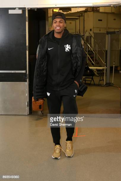 Buddy Hield of the Sacramento Kings arrives at the stadium before the game against the Minnesota Timberwolves on December 14 2017 at Target Center in...