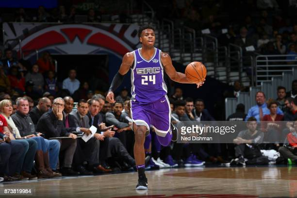 Buddy Hield of the Sacramento Kings handles the ball against the Washington Wizards on November 13 2017 at Capital One Arena in Washington DC NOTE TO...