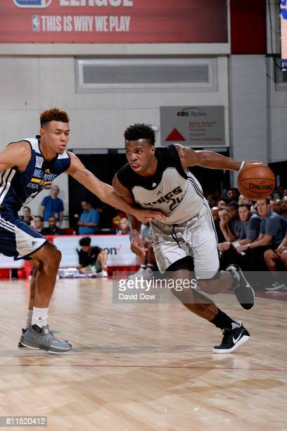 Buddy Hield of the Sacramento Kings handles the ball during the game against the Memphis Grizzlies during the 2017 Las Vegas Summer League on July 9...